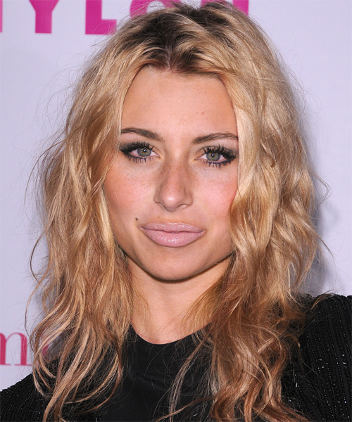 Alyson Michalka Long Wavy Hairstyle - Dark Brunette (Champagne)