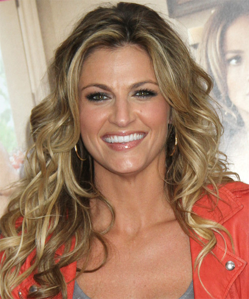 Erin Andrews Long Wavy Hairstyle - Dark Blonde (Ash)