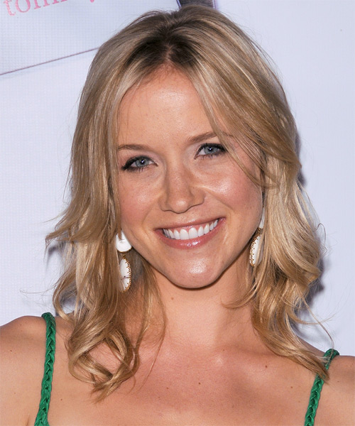 Jessy Schram Long Straight Hairstyle - Medium Blonde (Champagne)