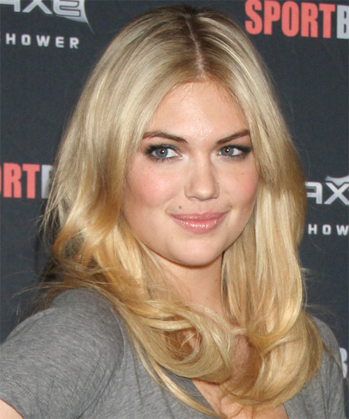 Kate Upton Long Straight Casual Hairstyle - Medium Blonde (Honey) Hair Color