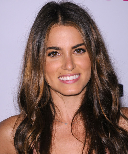 Nikki Reed Long Straight Hairstyle - Medium Brunette