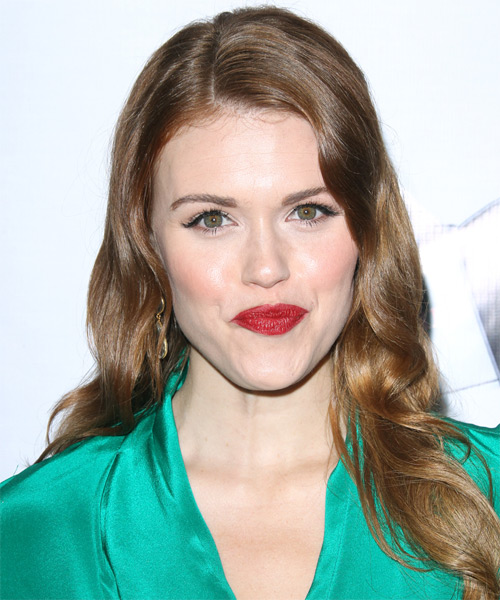 Holland Roden Long Wavy Hairstyle - Light Brunette (Ash)