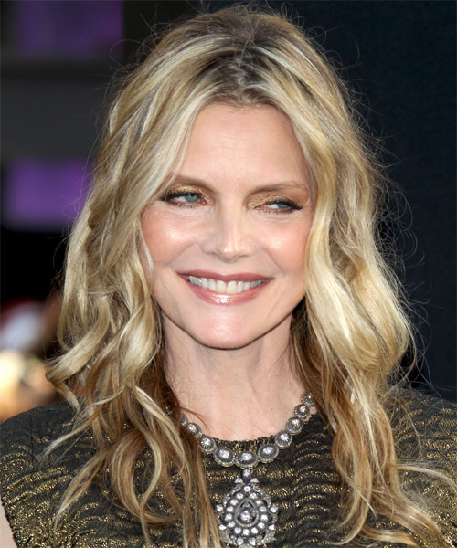 Michelle Pfeiffer Long Wavy Shag Hairstyle - Dark Blonde (Ash)