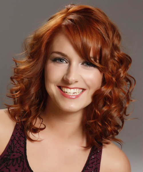 Medium Curly Formal Hairstyle - Medium Red (Copper)
