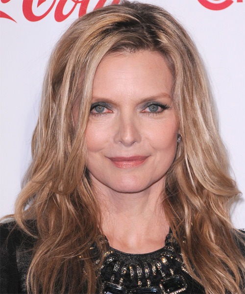Michelle Pfeiffer Long Straight Casual Hairstyle - Dark Blonde Hair Color