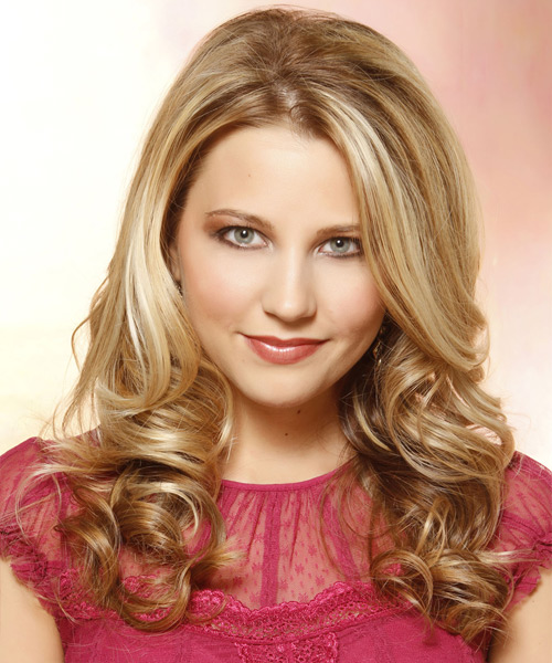 Long Curly Formal Hairstyle - Dark Blonde (Golden) Hair Color