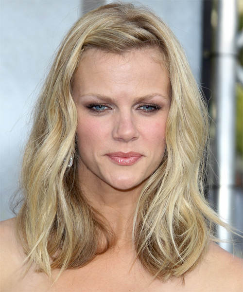 Brooklyn Decker Medium Straight Casual Hairstyle - Medium Blonde Hair Color
