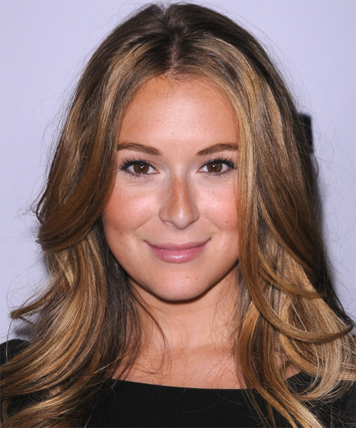 Alexa Vega Long Straight Formal Hairstyle - Light Brunette (Caramel) Hair Color