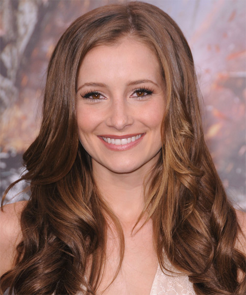 Candace Bailey Long Wavy Hairstyle - Light Brunette (Caramel)
