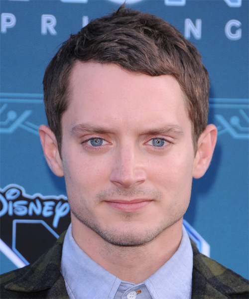 Elijah Wood Short Straight Hairstyle - Medium Brunette