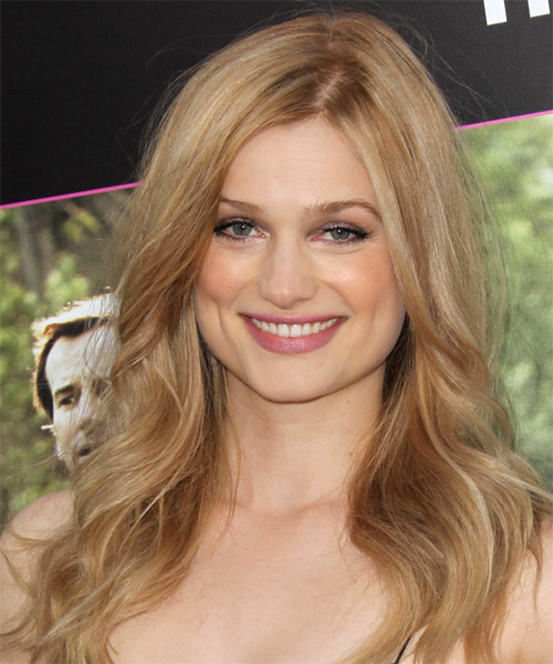 Alison Sudol  Long Wavy Hairstyle - Medium Blonde (Copper)