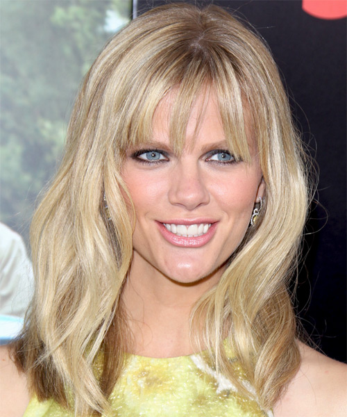 Brooklyn Decker Medium Straight Casual Hairstyle - Light Blonde (Champagne) Hair Color