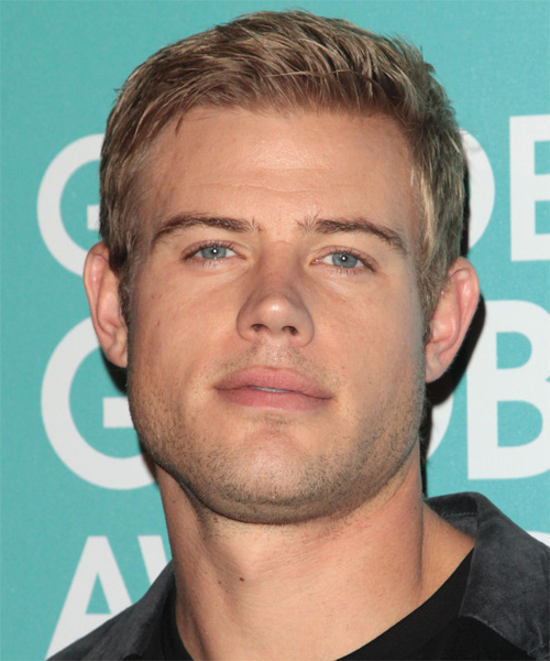 Trevor Donovan Short Straight Hairstyle - Medium Blonde (Champagne)