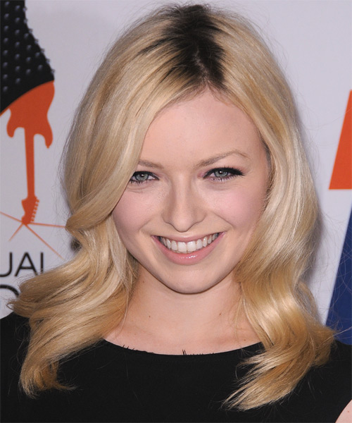 Francesca Fisher-Eastwood Long Wavy Formal Hairstyle - Light Blonde