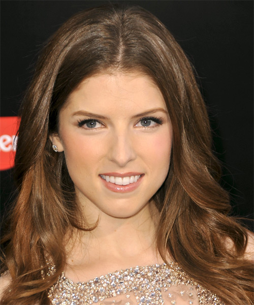 Anna Kendrick Long Straight Formal Hairstyle - Medium Brunette (Auburn) Hair Color