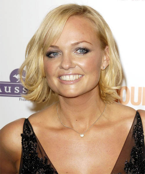 Emma Bunton - Casual Medium Straight Hairstyle