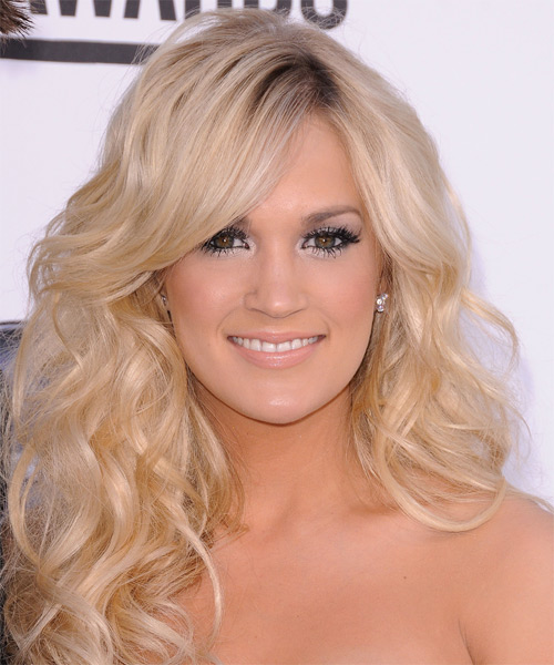 Carrie Underwood - Formal Long Wavy Hairstyle