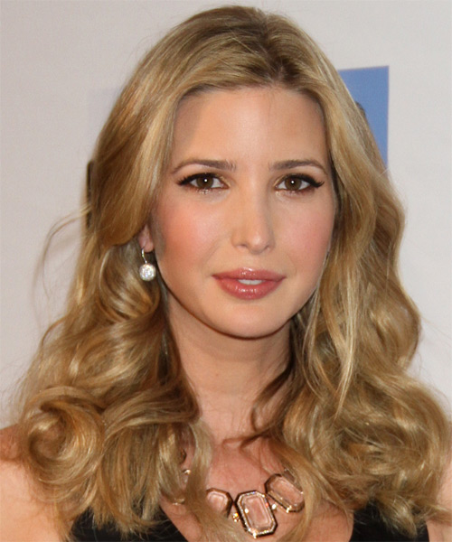 Ivanka Trump Long Wavy Hairstyle - Medium Blonde (Honey)