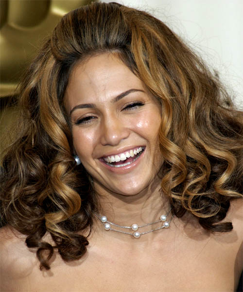 Jennifer Lopez Long Curly Formal Hairstyle