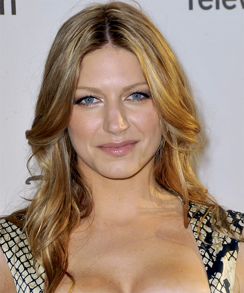 Jes Macallan  Long Straight Casual Hairstyle - Medium Blonde Hair Color
