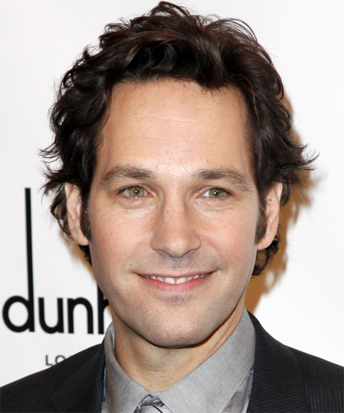 Paul Rudd Short Wavy Hairstyle - Dark Brunette