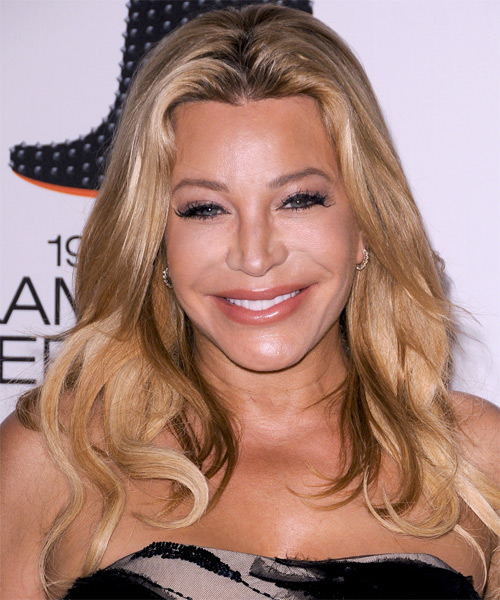 Taylor Dayne Long Straight Casual Hairstyle - Light Blonde (Champagne) Hair Color
