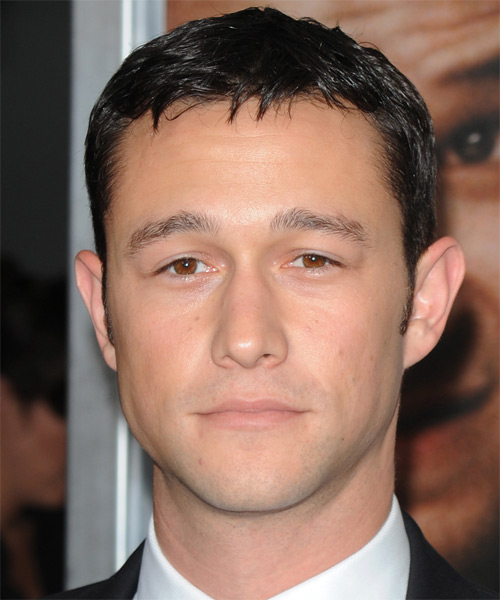 Joseph Gordon-Levitt  Short Straight Formal Hairstyle - Dark Brunette Hair Color