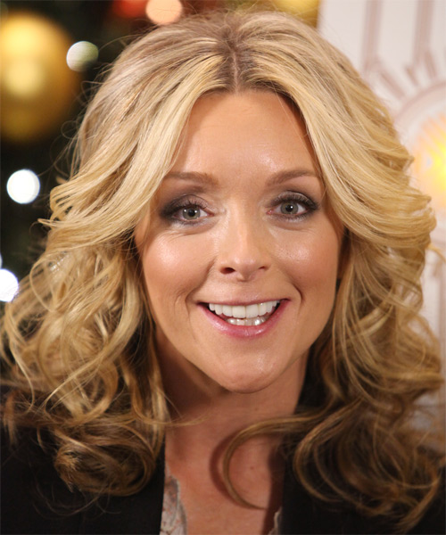 Jane Krakowski Medium Curly Hairstyle - Light Blonde