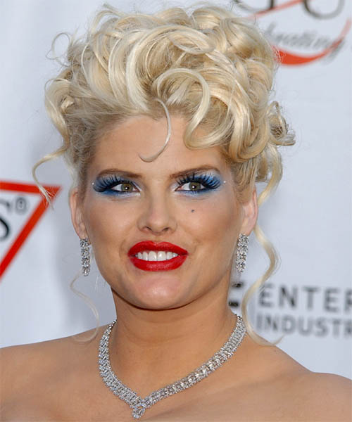 Anna Nicole Smith Formal Curly Updo Hairstyle