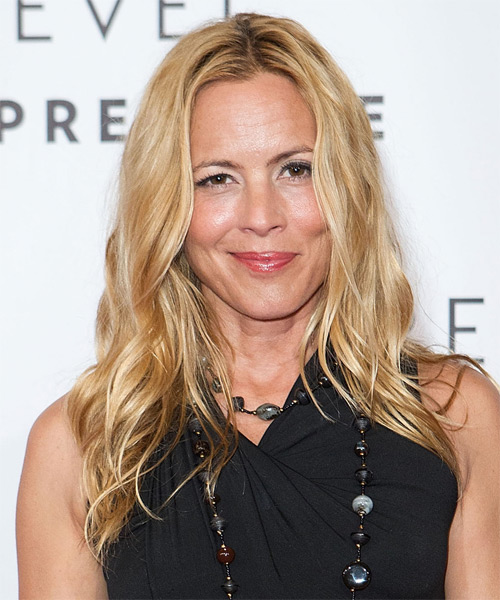Maria Bello Long Wavy Hairstyle - Medium Blonde