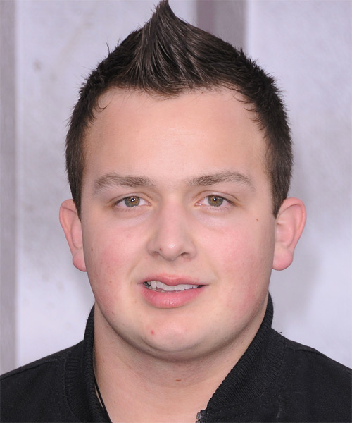 Noah Munck Short Straight Mohawk Hairstyle - Medium Brunette