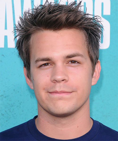 Johnny Simmons Short Straight Hairstyle - Dark Blonde