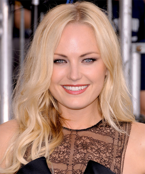 Malin Akerman Long Straight Casual Hairstyle - Light Blonde (Golden) Hair Color