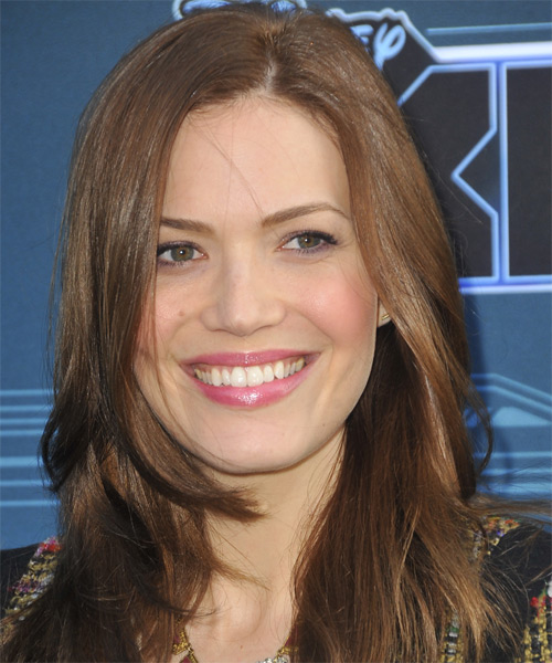 Mandy Moore Long Straight Hairstyle - Medium Brunette