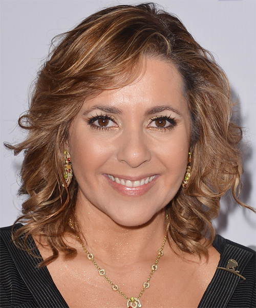 Ana Maria Canseco Medium Wavy Hairstyle - Light Brunette