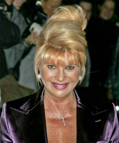 Ivana Trump - Formal Updo Long Straight Hairstyle