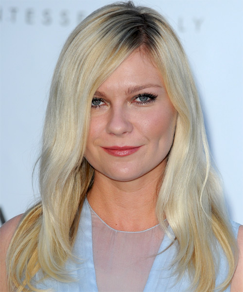Kirsten Dunst Long Straight Casual Hairstyle - Light Blonde Hair Color