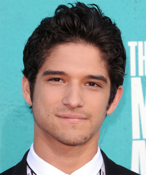 Tyler Posey Medium Wavy Casual Hairstyle - Dark Brunette Hair Color