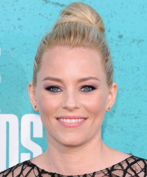 Elizabeth Banks Casual Straight Updo Hairstyle - Light Blonde