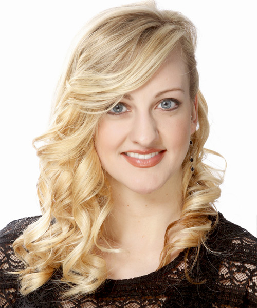 Long Curly Formal Hairstyle - Light Blonde (Golden) Hair Color