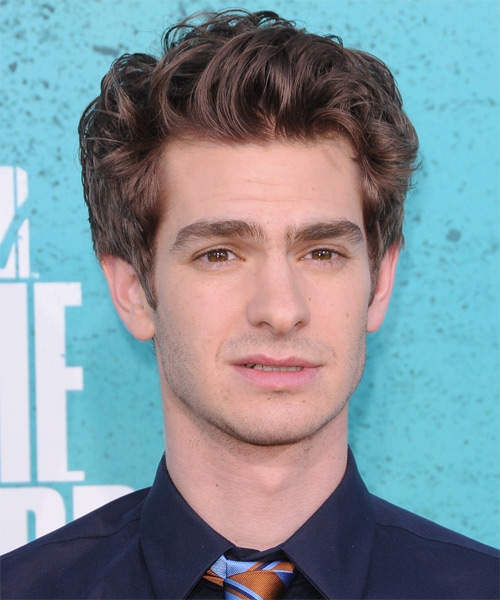 Andrew Garfield Short Straight Casual Hairstyle - Medium Brunette Hair Color