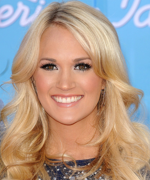 Carrie Underwood Long Wavy Formal Hairstyle - Light Blonde (Honey) Hair Color