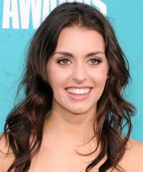 Kathryn McCormick  Long Wavy Casual Hairstyle - Medium Brunette Hair Color