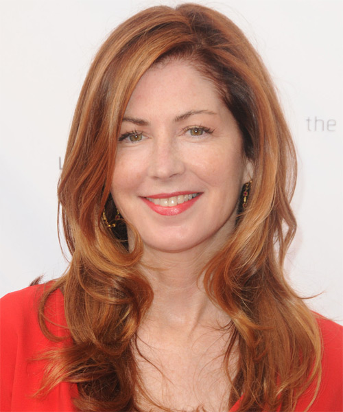 Dana Delaney Long Straight Hairstyle - Medium Red