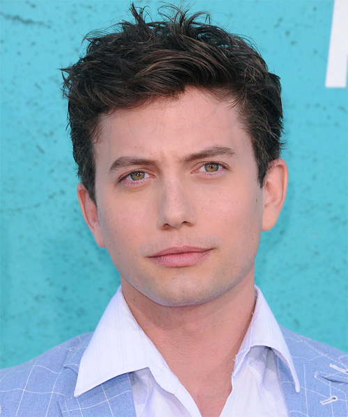 Jackson Rathbone Short Straight Casual Hairstyle - Dark Brunette Hair Color