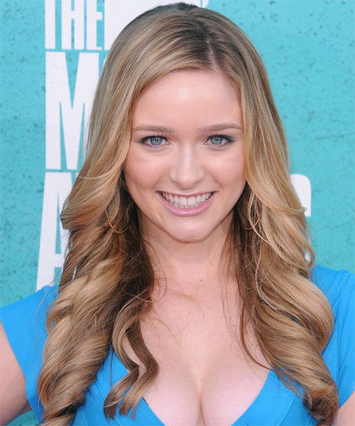Greer Grammer Long Wavy Formal Hairstyle - Medium Blonde Hair Color