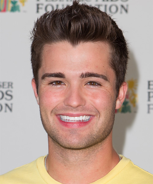 Spencer Boldman Short Straight Casual Hairstyle - Medium Brunette Hair Color
