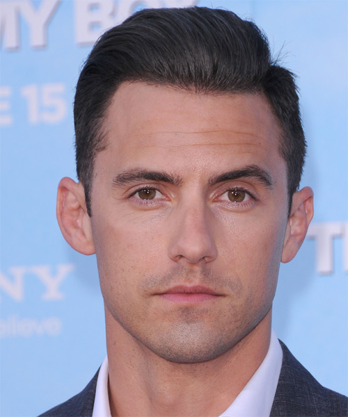 Milo Ventimiglia Short Straight Formal Hairstyle - Dark Brunette Hair Color