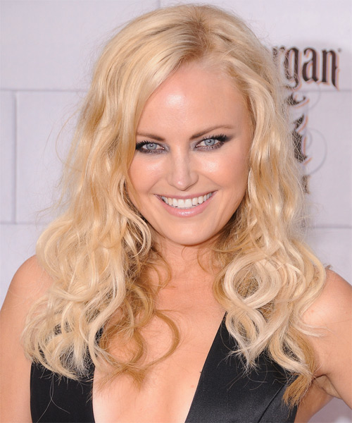 Malin Akerman Long Wavy Casual Hairstyle - Light Blonde (Golden) Hair Color