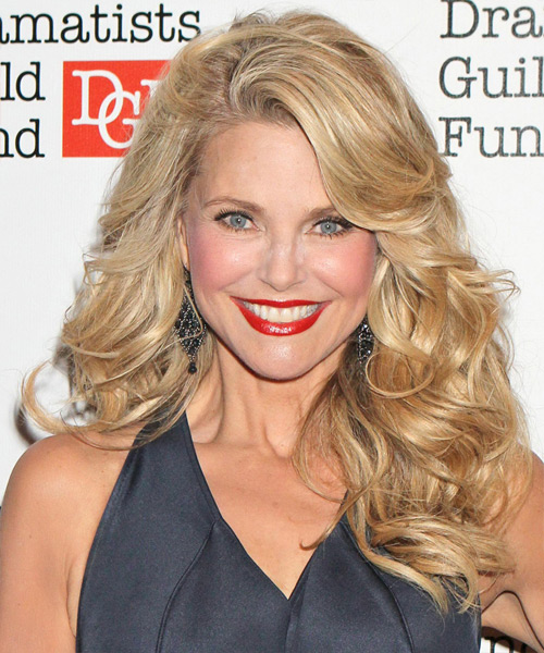 Christie Brinkley Long Wavy Formal Hairstyle